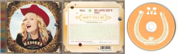 madonna don't tell me cd single canada
