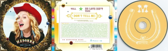 madonna don't tell me cd single usa