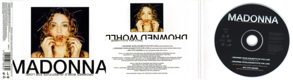 madonna drowned world subtitute for love cd single africa