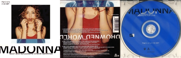 madonna drowned world subtitute for love cd single part 2 australia