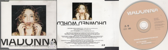madonna drowned world subtitute for love cd single tailandia