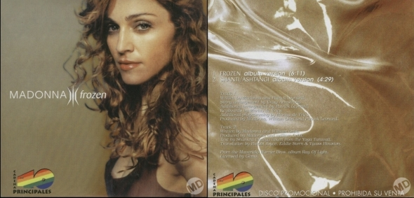 madonna frozen promo cd single los 40 principales españa