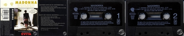 madonna another suitcase in another hall cassette single uk