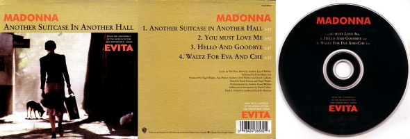 madonna another suitcase in another hall cd single australia