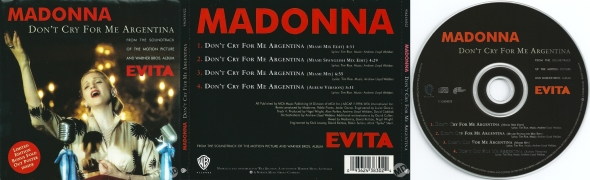 madonna don't cry for me argentina cd single AUSTRALIA