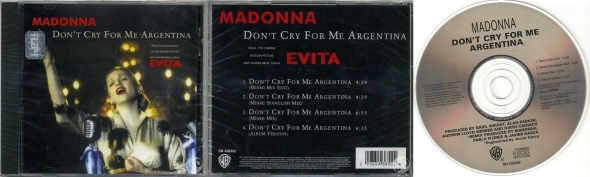 madonna don't cry for me argentina cd single mexico