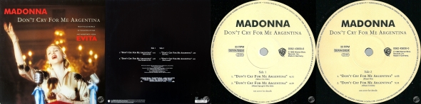 MADONNA don't cry for me argentina single 12 pulgadas alemania