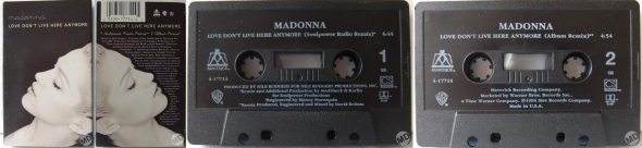 madonna love dont live here anymore cassette single usa