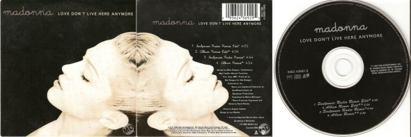 madonna love don't live here anymore cd single francia alemania