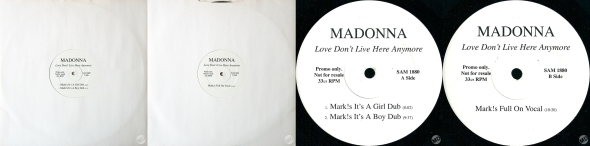 madonna love dont live here anymore lp promo UK