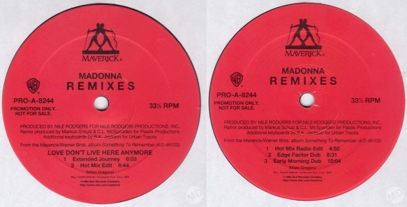 madonna love dont live here anymore promo lp usa remixes