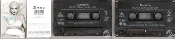 madonna secret cassette single canada
