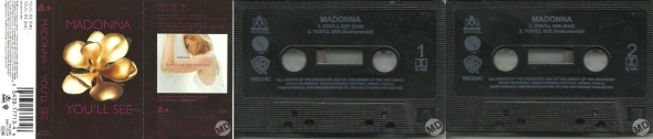 madonna youll see cassette single UK