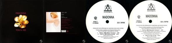 madonna youll see single 12 pulgadas usa
