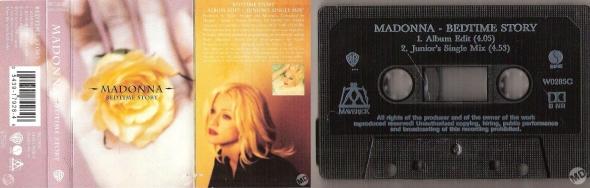 madonna bedtime story cassette single uk