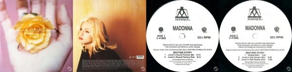 madonna bedtime story LP USA