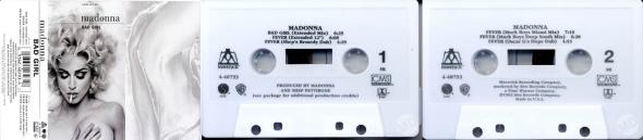 madonna bad girl cassette single USA