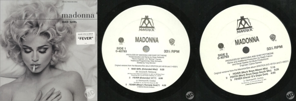 madonna bad girl single 12 pulgadas USA