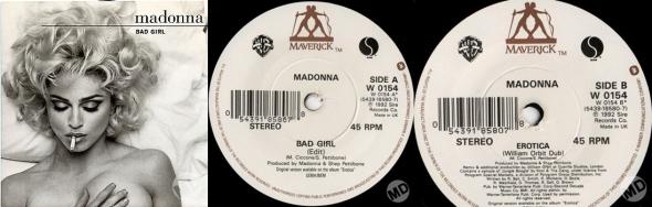 madonna bad girl single 7 pulgadas UK