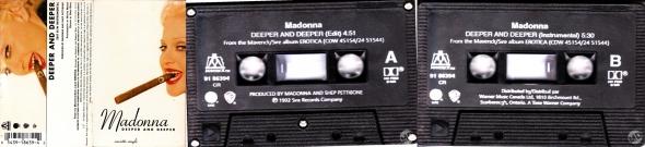 madonna deeper and deeper cassette single canada