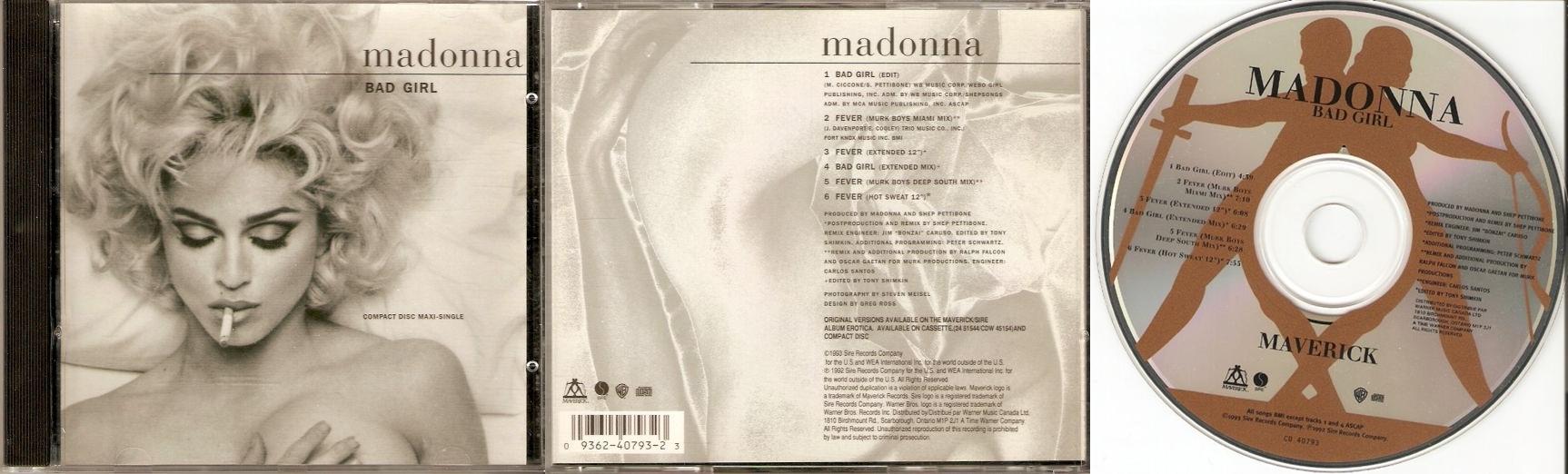 Madonna Erotica Single 65