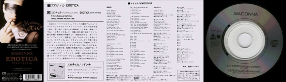 madonna erotica cd single 3 pulgadas japon