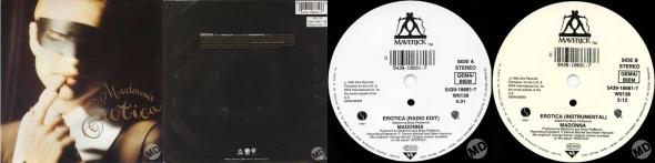 madonna erotica single 7 pulgadas UK
