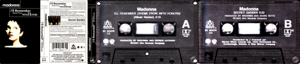 madonna ill remember cassette single canada