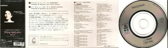 madonna ill remember cd single 3 pulgadas japon
