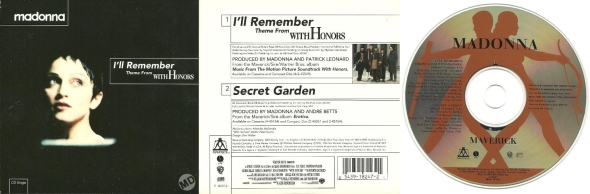 madonna i'll remember cd single