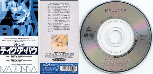 madonna take a bow cd single 3 pulgadas japón