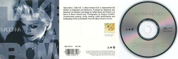 madonna take a bow cd single alemania