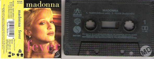 madonna fever cassette single UK