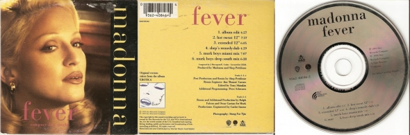 madonna fever cd single australia
