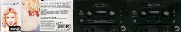 madonna rain cassette single USA