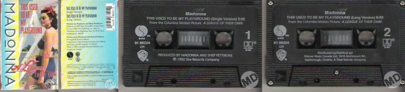madonna this used to be my playground cassette single canada