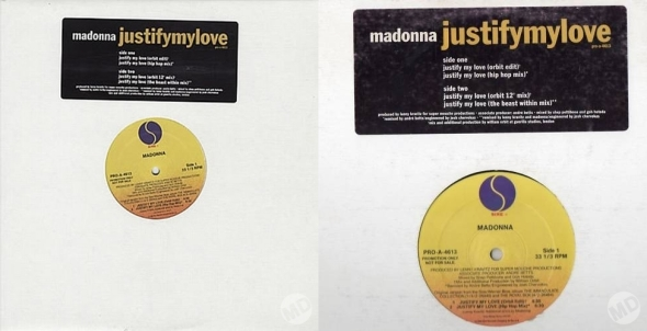 madonna justify my love promo 12 pulgadas usa