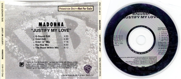madonna justify my love promo cd usa