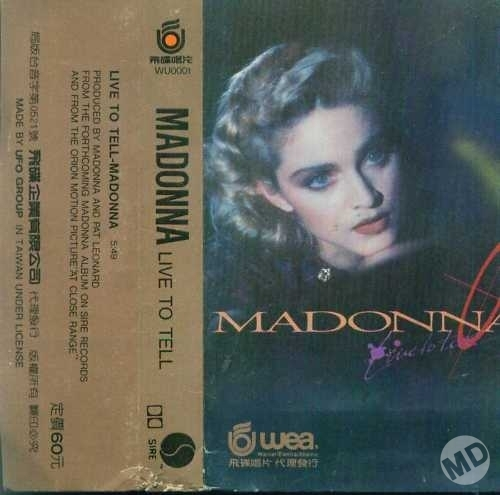 madonna live to tell cassette single taiwan