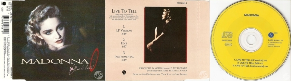 madonna live to tell cd single