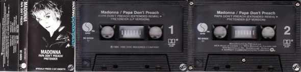 madonna papa don't preach cassette single canada