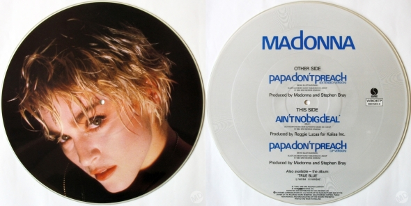 madonna papa don't preach picture disc uk