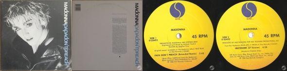 madonna papa don't preach single 12 pulgadas usa