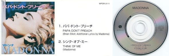 madonna papa don't preach single 3 pulgadas japon
