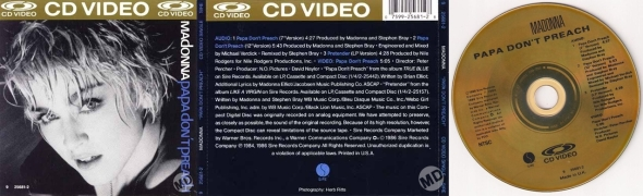 papa don't preach cd video usa