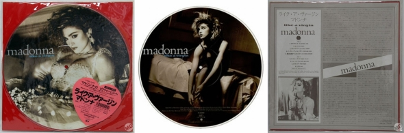 madonna like a virgin picture disc japon