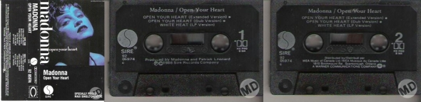 madonna open your heart cassette single