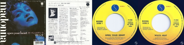 madonna open your heart single 7 pulgadas japon
