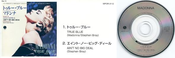 madonna true blue cd single 3 pulgadas