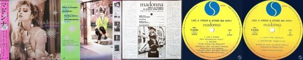 madonna like a virgin & other big hits LP japon